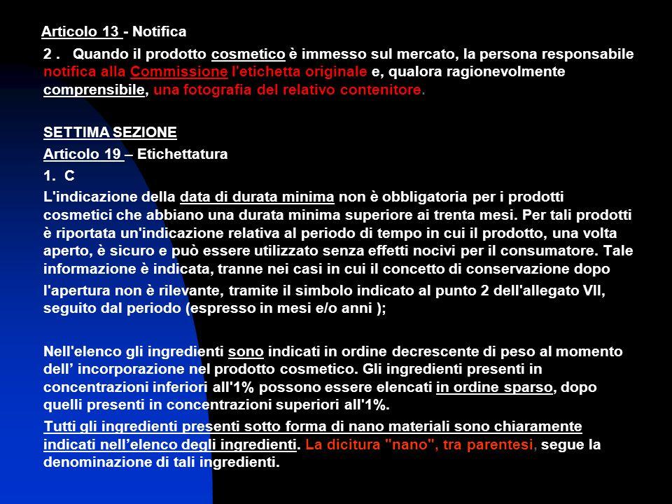 Articolo 13 - Notifica