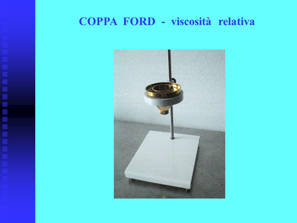 COPPA FORD - viscosità relativa