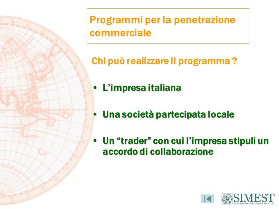 Programmi per la penetrazione commerciale