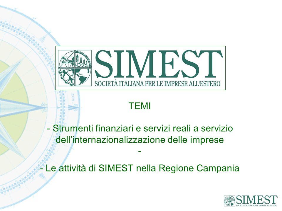 - Le attività di SIMEST nella Regione Campania