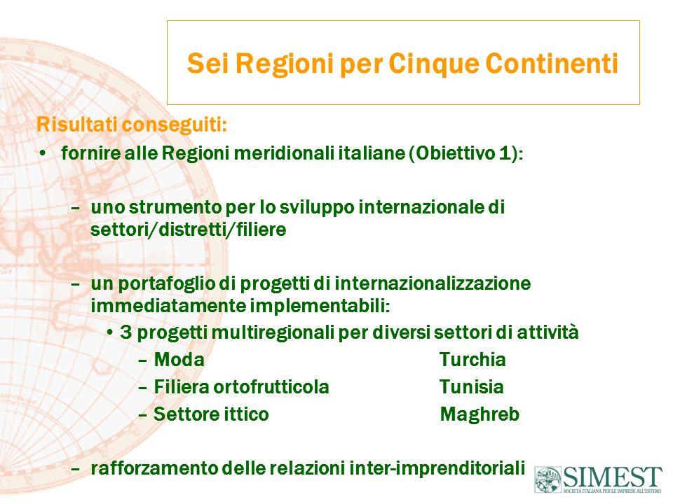 Sei Regioni per Cinque Continenti