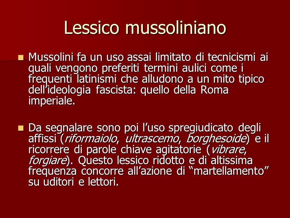 Lessico mussoliniano