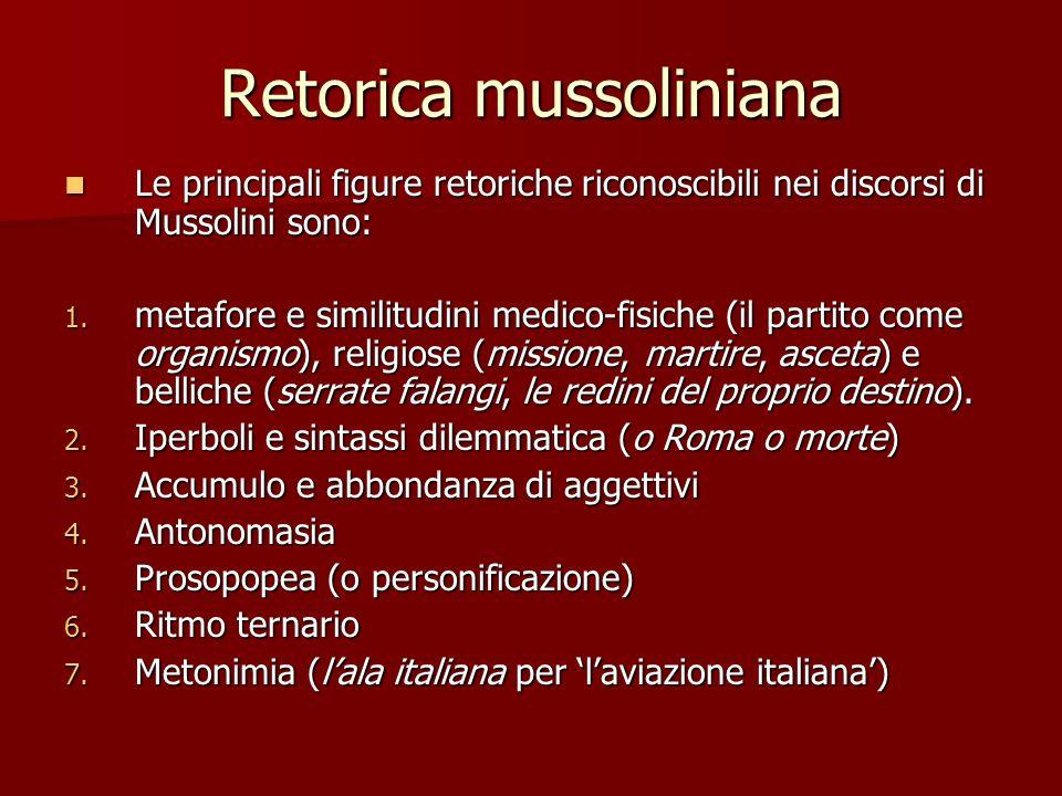 Retorica mussoliniana