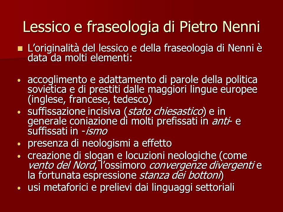 Lessico e fraseologia di Pietro Nenni