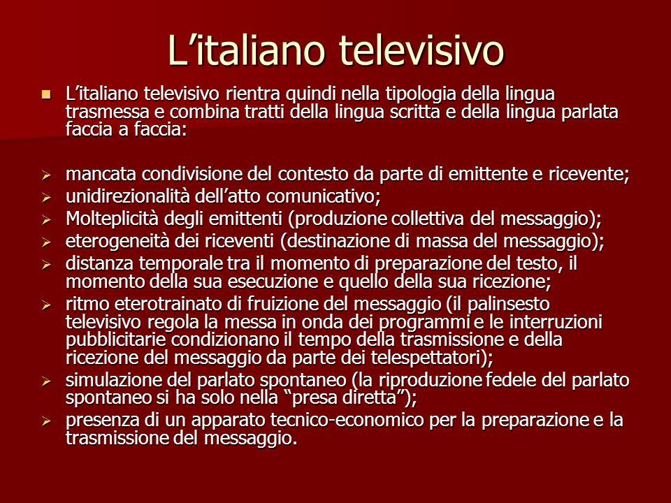 L'italiano televisivo