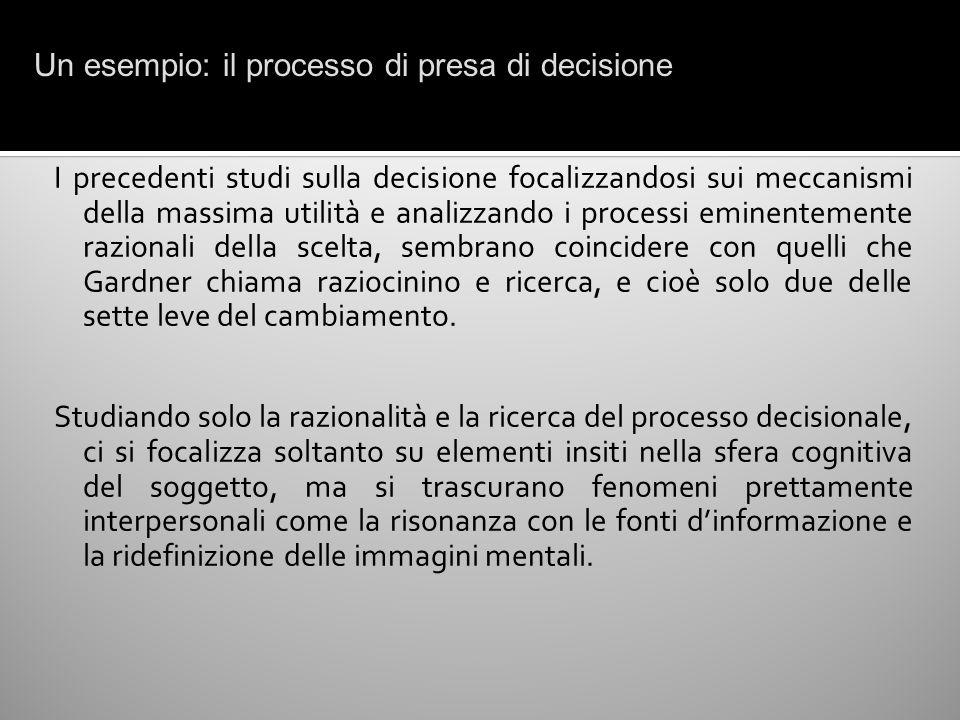 Un esempio: il processo di presa di decisione