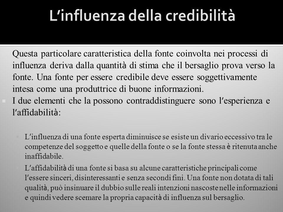 L'influenza della credibilità