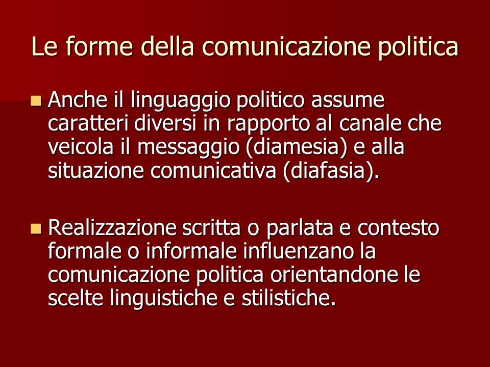Le forme della comunicazione politica