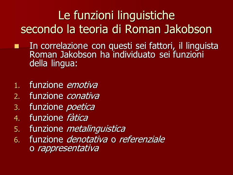 Le funzioni linguistiche secondo la teoria di Roman Jakobson