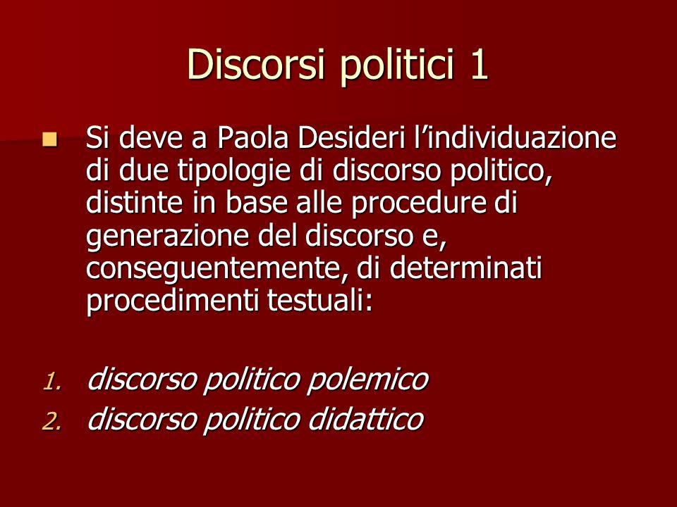Discorsi politici 1