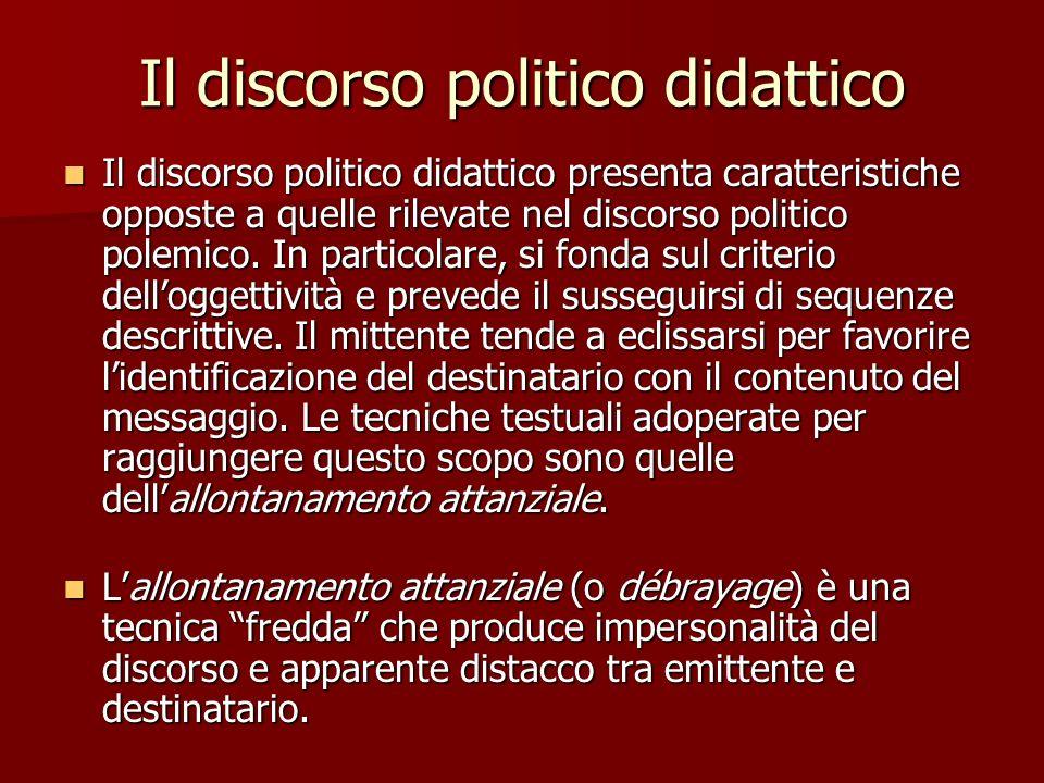 Il discorso politico didattico