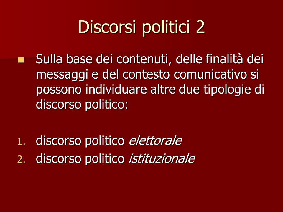 Discorsi politici 2