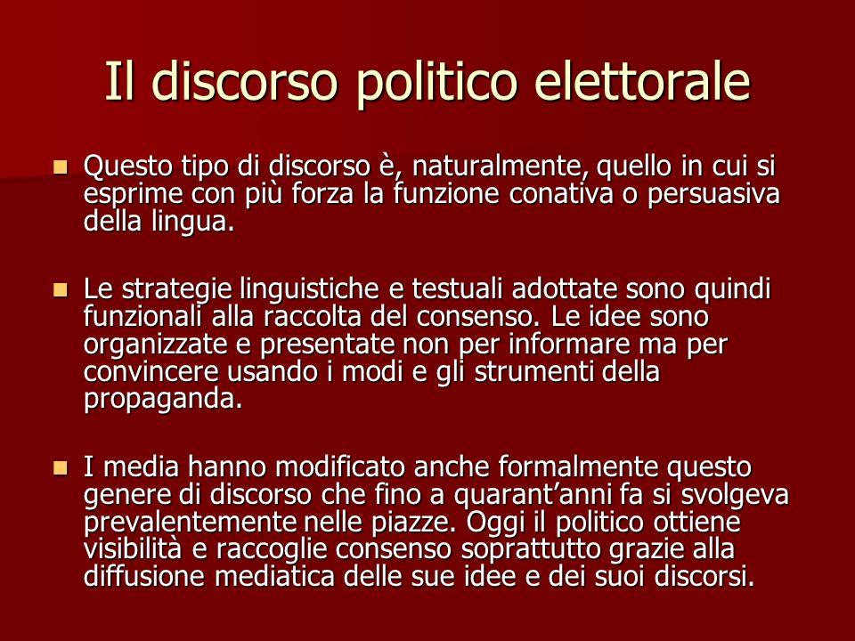 Il discorso politico elettorale