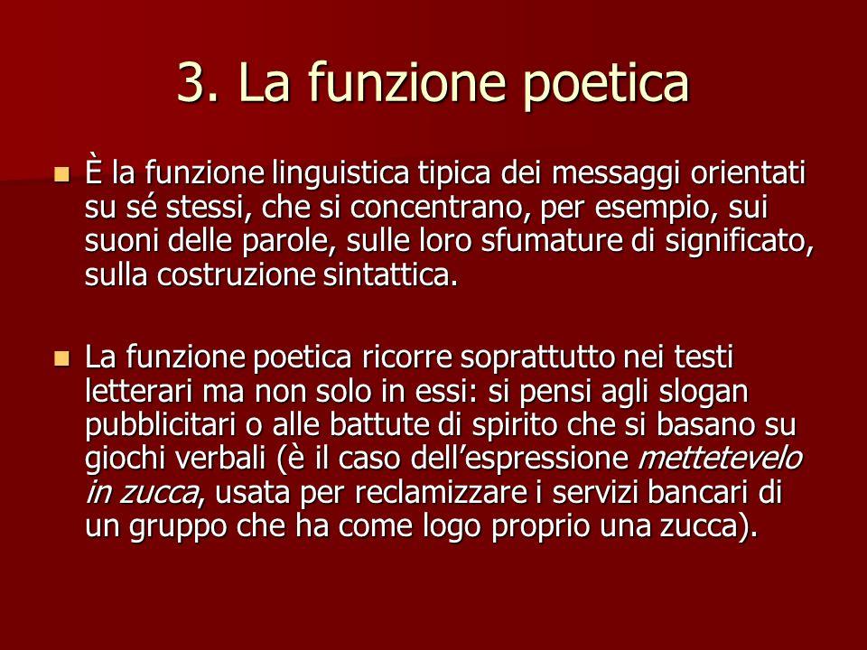 3. La funzione poetica