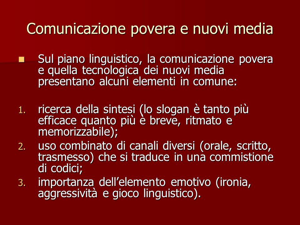 Comunicazione povera e nuovi media
