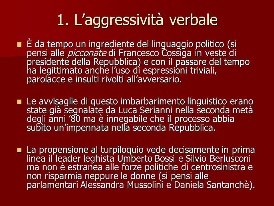 1. L'aggressività verbale