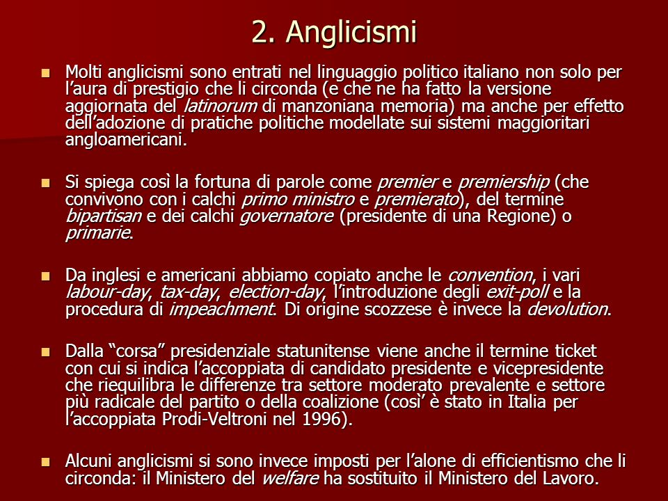 2. Anglicismi
