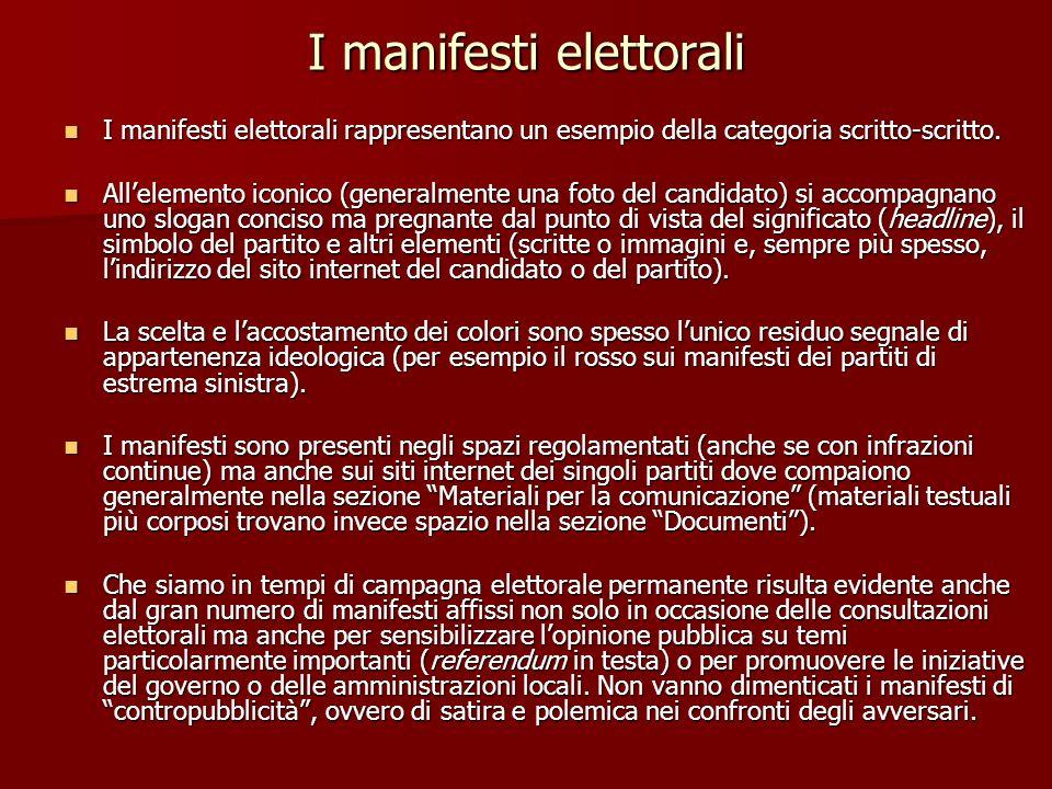 I manifesti elettorali