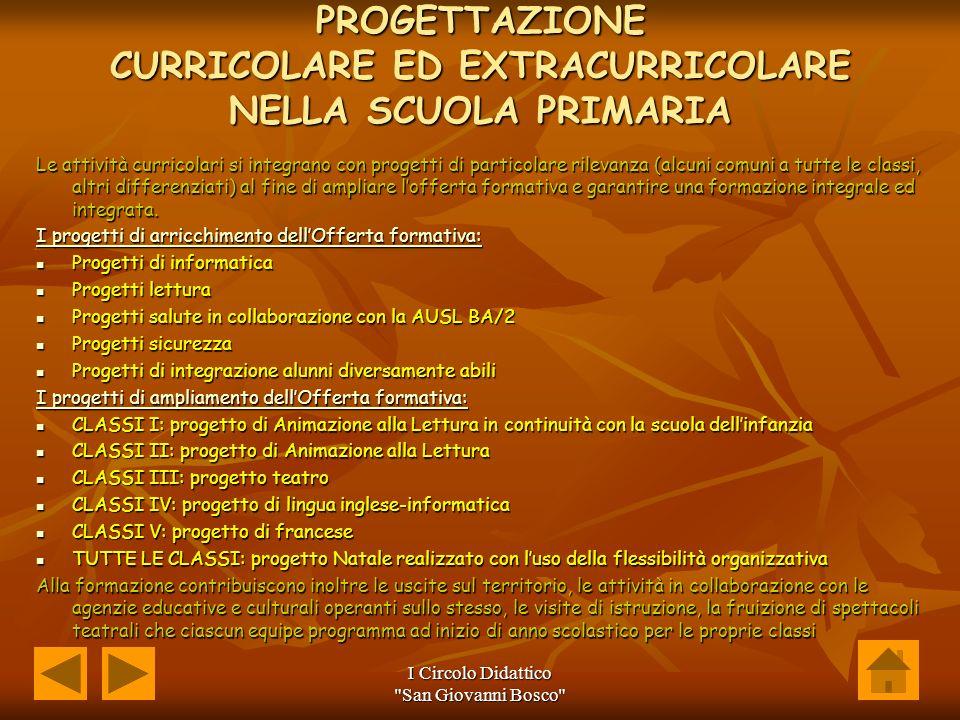 PROGETTAZIONE CURRICOLARE ED EXTRACURRICOLARE NELLA SCUOLA PRIMARIA