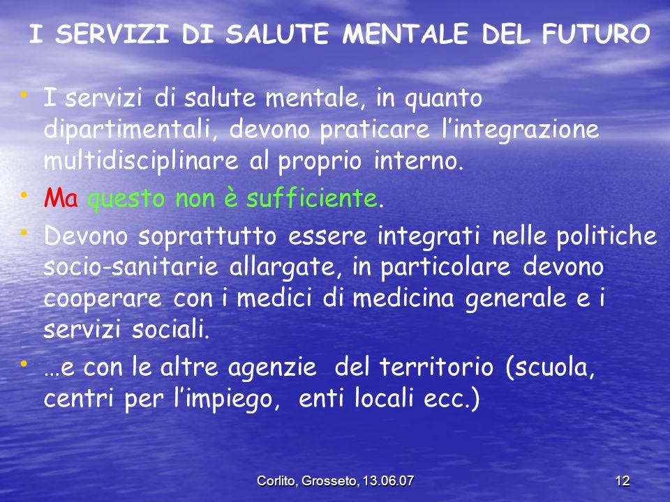 I SERVIZI DI SALUTE MENTALE DEL FUTURO