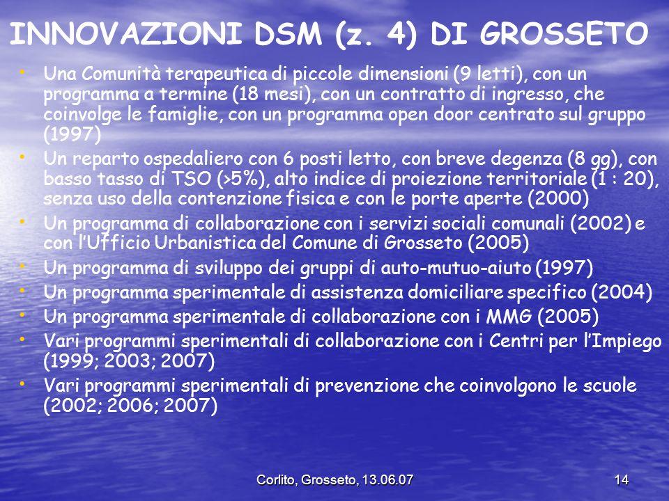 INNOVAZIONI DSM (z. 4) DI GROSSETO