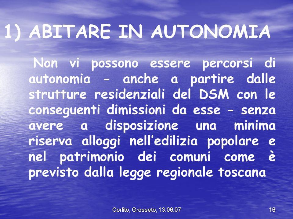 1) ABITARE IN AUTONOMIA