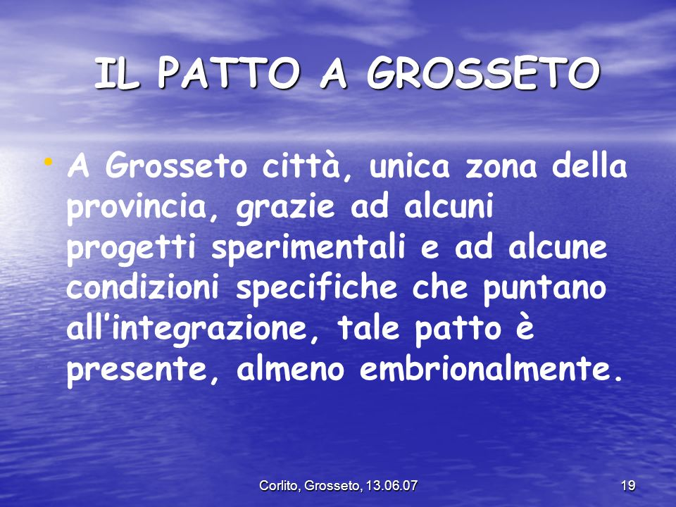 IL PATTO A GROSSETO