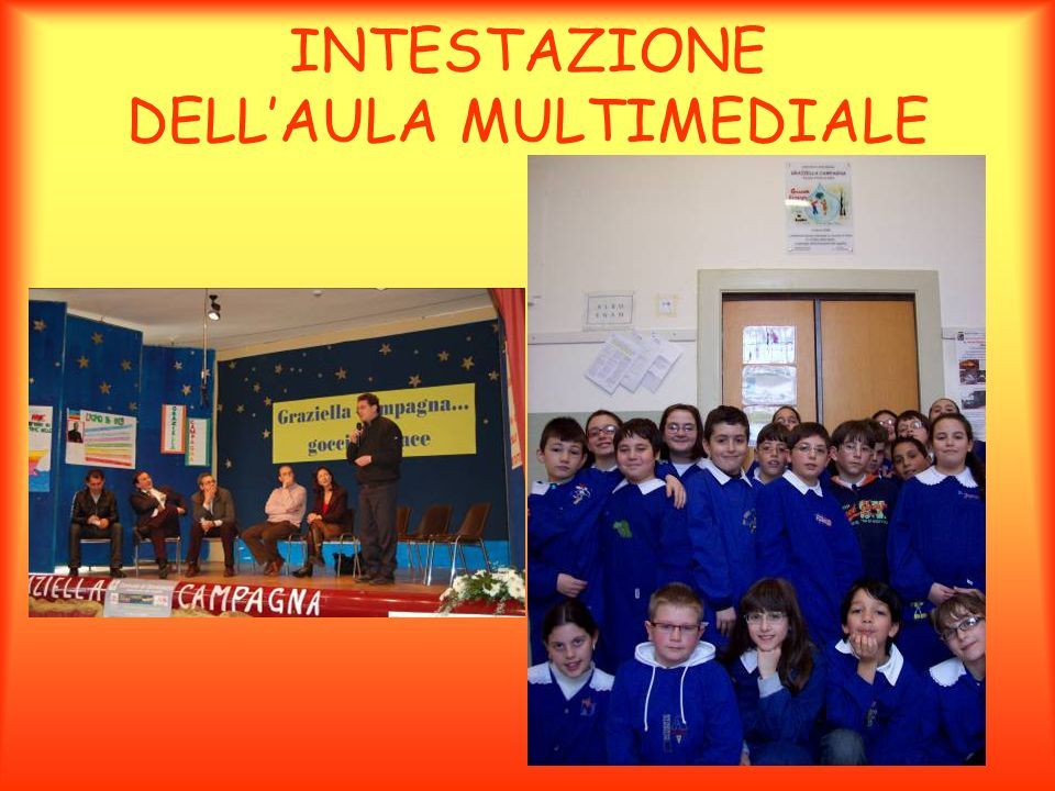 INTESTAZIONE DELL'AULA MULTIMEDIALE