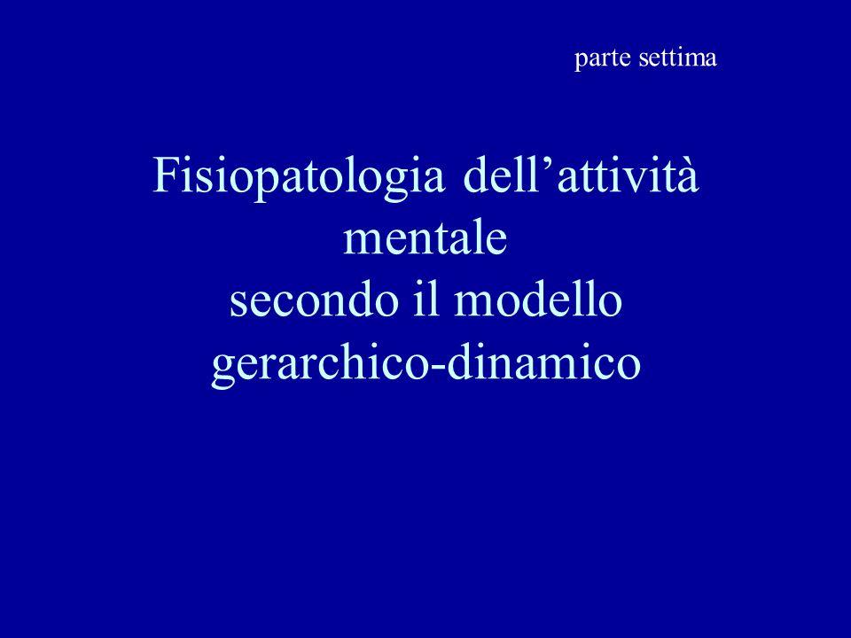 parte settima Fisiopatologia dell'attività mentale secondo il modello gerarchico-dinamico