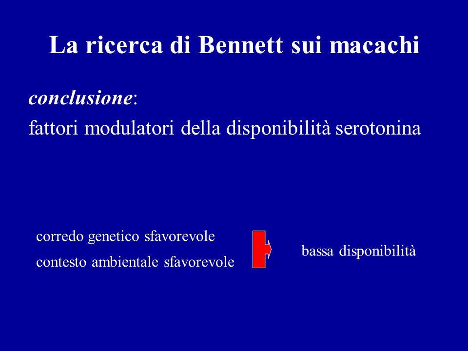 La ricerca di Bennett sui macachi