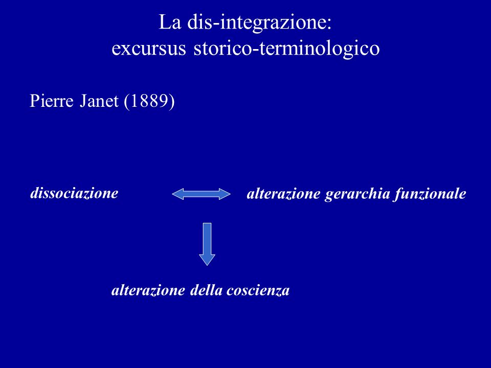 La dis-integrazione: excursus storico-terminologico