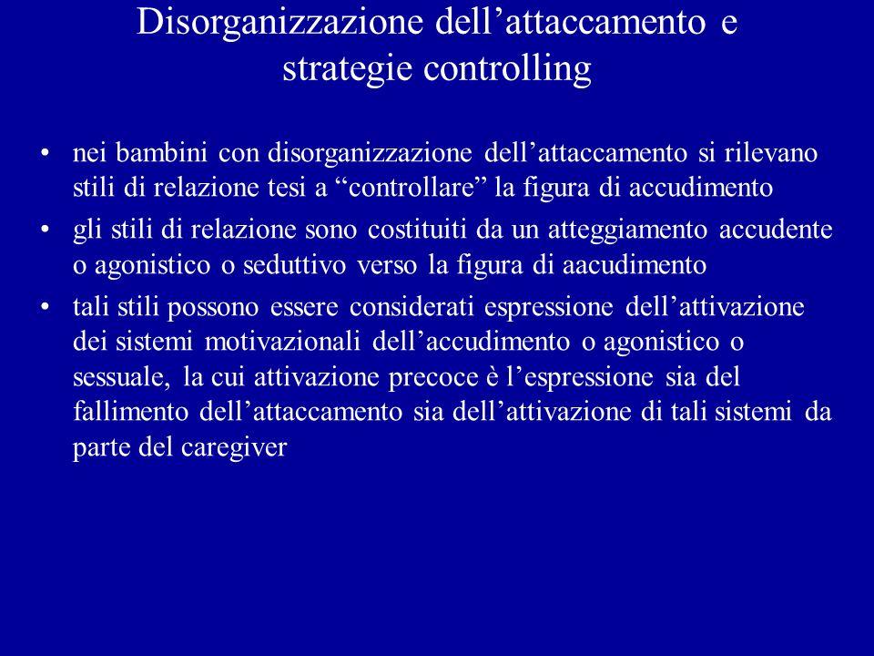 Disorganizzazione dell'attaccamento e strategie controlling