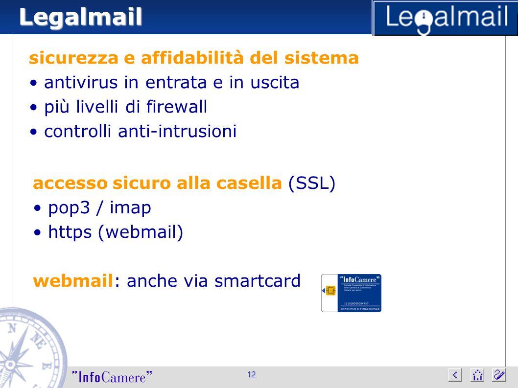 Legalmail sicurezza e affidabilità del sistema