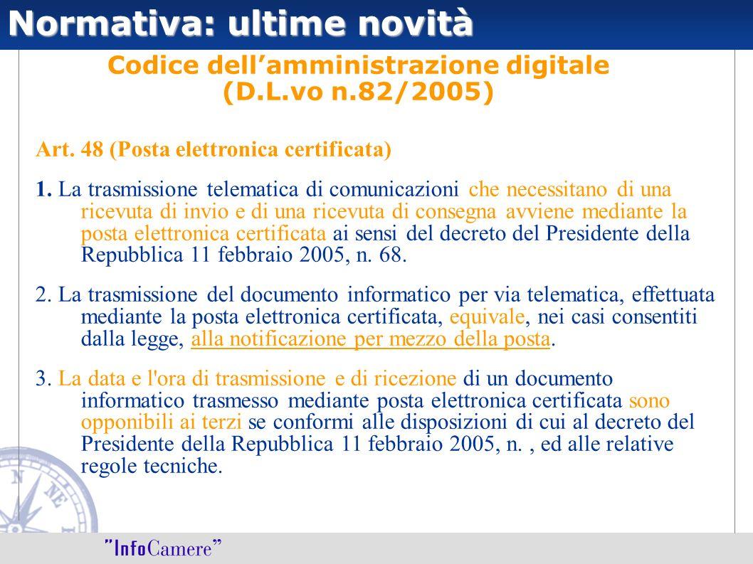 Codice dell'amministrazione digitale (D.L.vo n.82/2005)