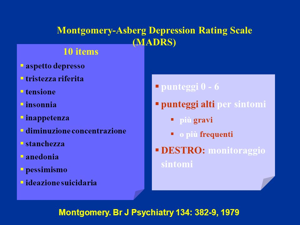 Montgomery-Asberg Depression Rating Scale (MADRS)