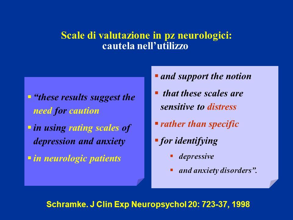 Scale di valutazione in pz neurologici: