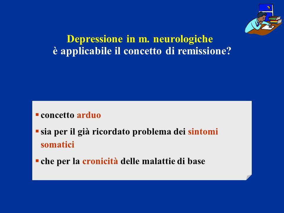 Depressione in m. neurologiche