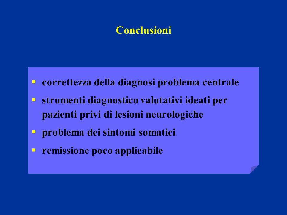 Conclusioni correttezza della diagnosi problema centrale