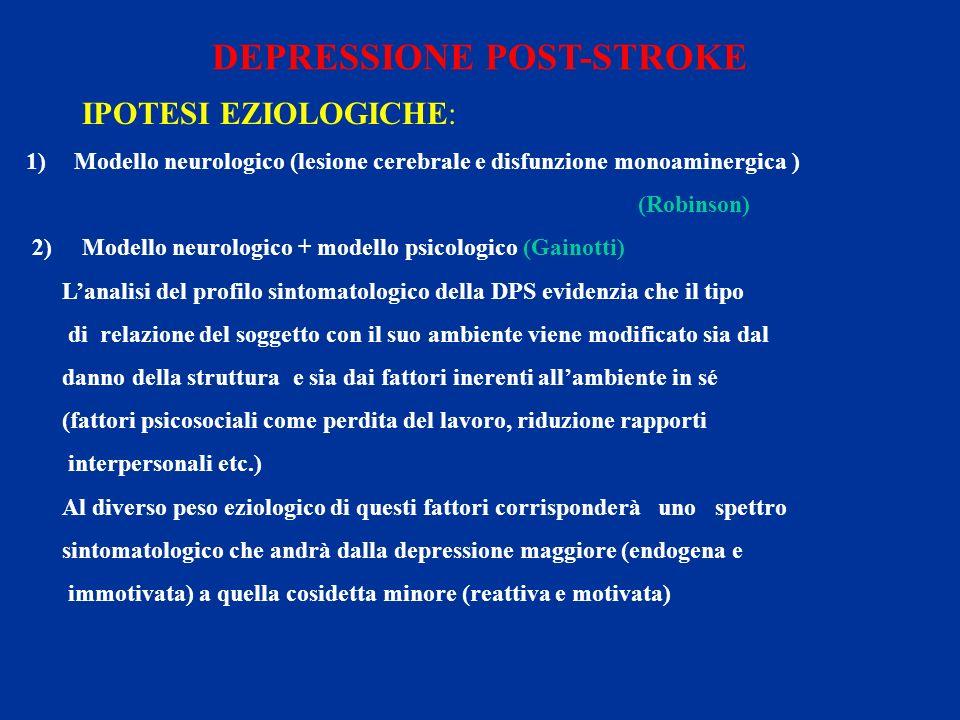 DEPRESSIONE POST-STROKE