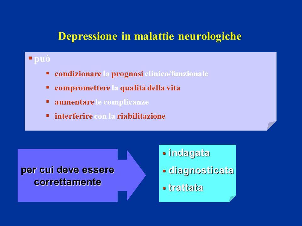 Depressione in malattie neurologiche