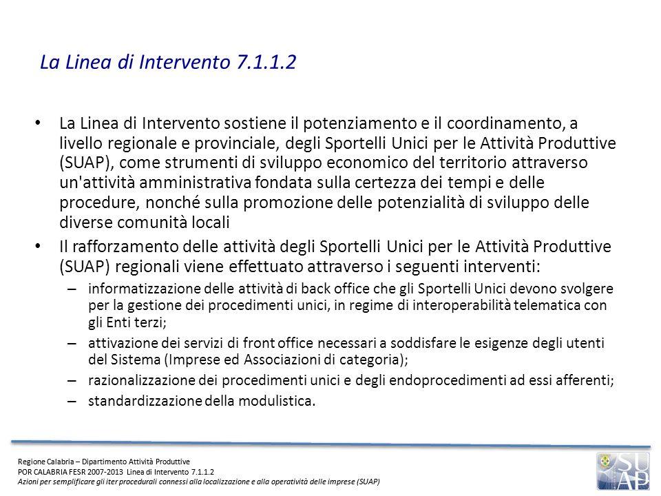 La Linea di Intervento 7.1.1.2