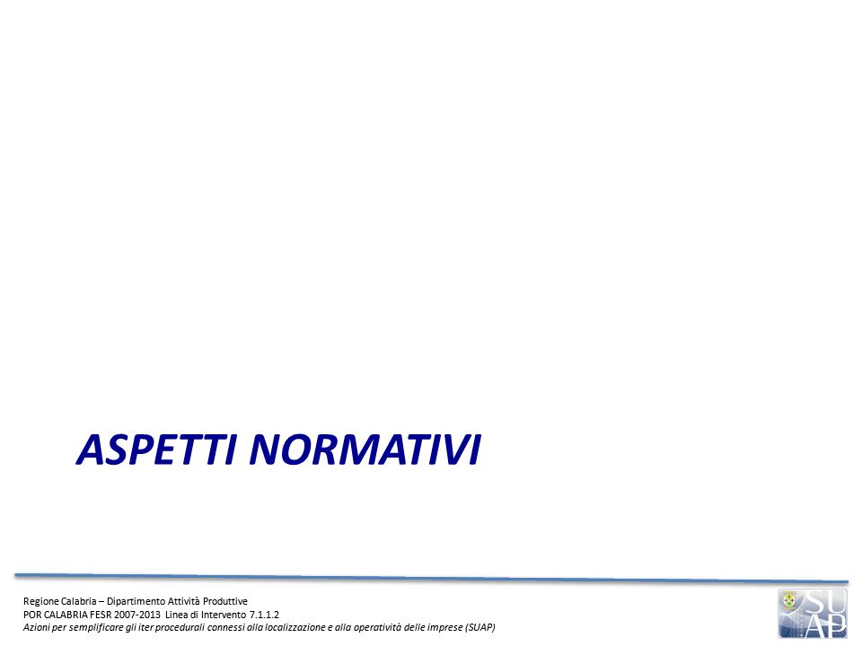 ASPETTI NORMATIVI