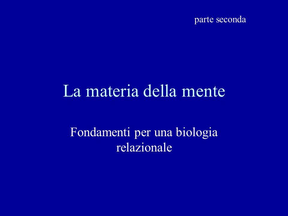Fondamenti per una biologia relazionale