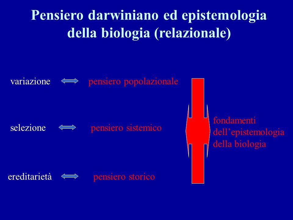 Pensiero darwiniano ed epistemologia della biologia (relazionale)