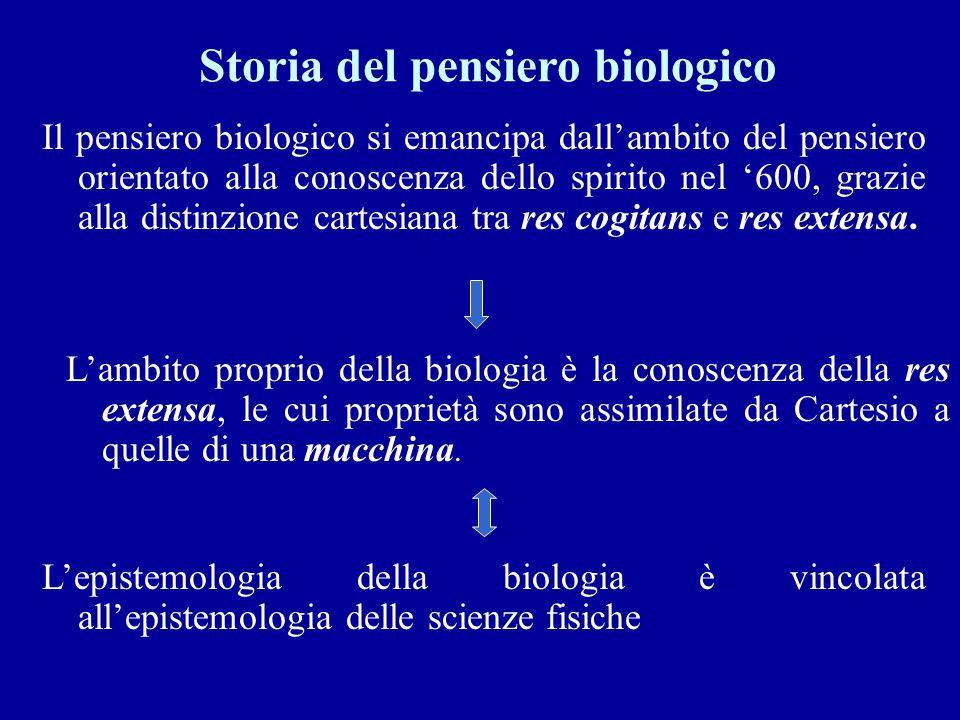 Storia del pensiero biologico