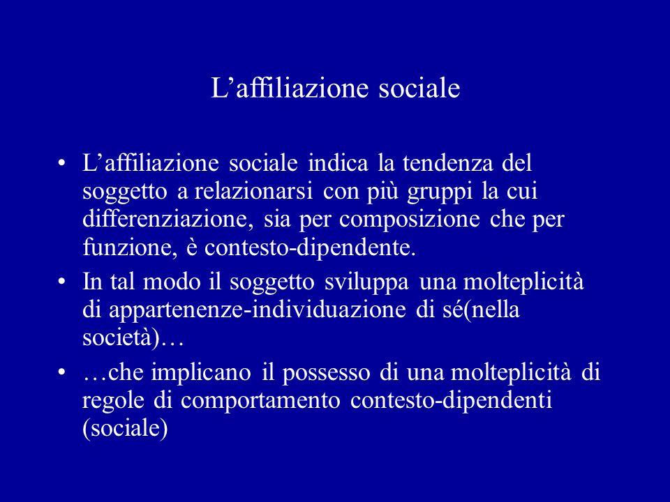 L'affiliazione sociale