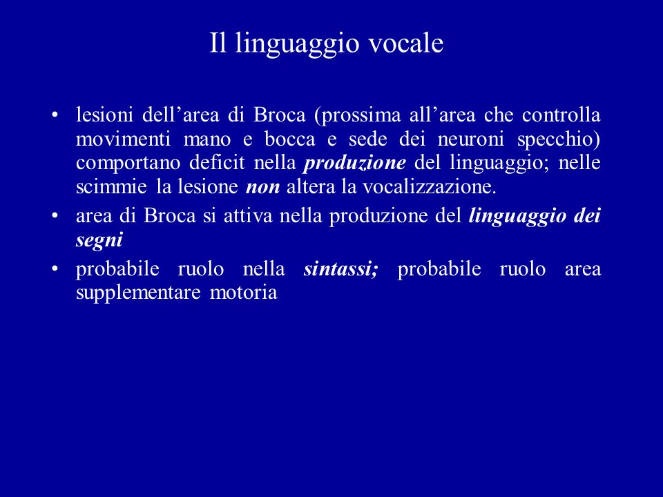 Il linguaggio vocale