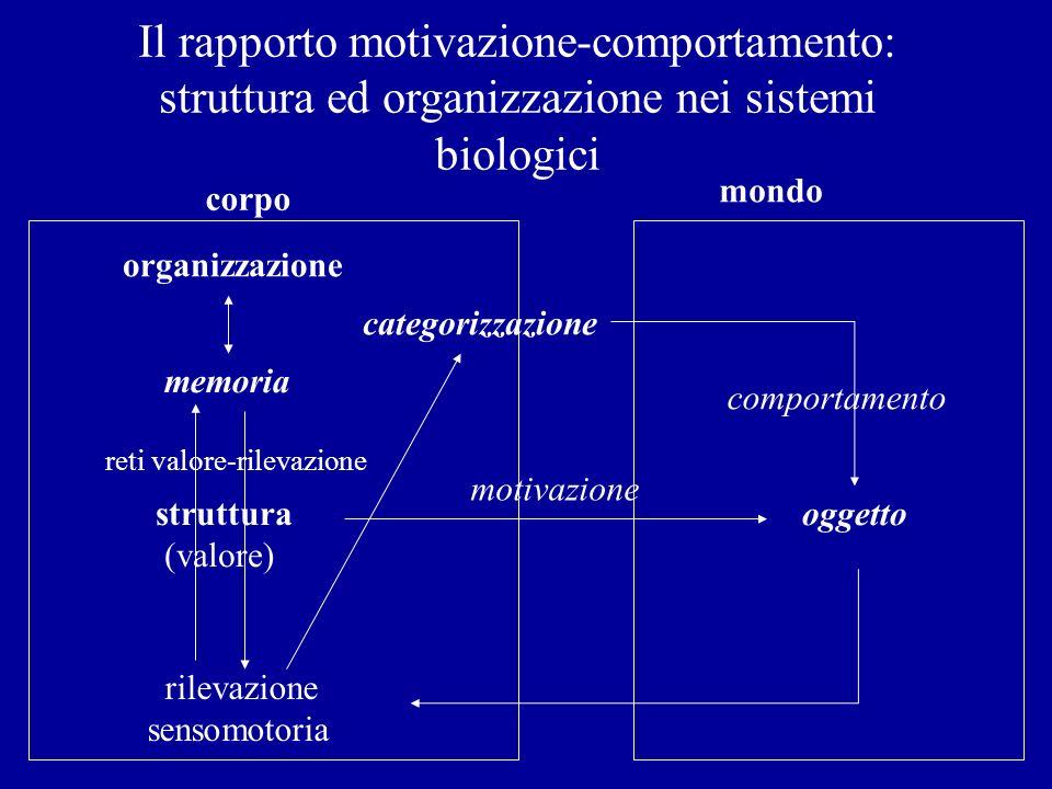 Il rapporto motivazione-comportamento: struttura ed organizzazione nei sistemi biologici