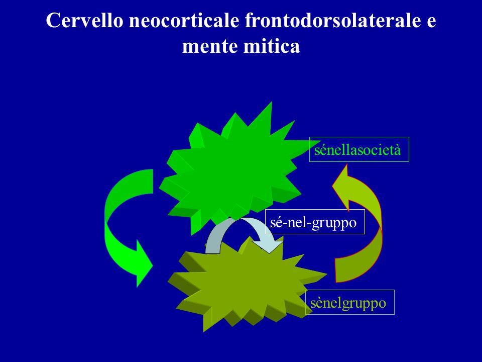 Cervello neocorticale frontodorsolaterale e mente mitica