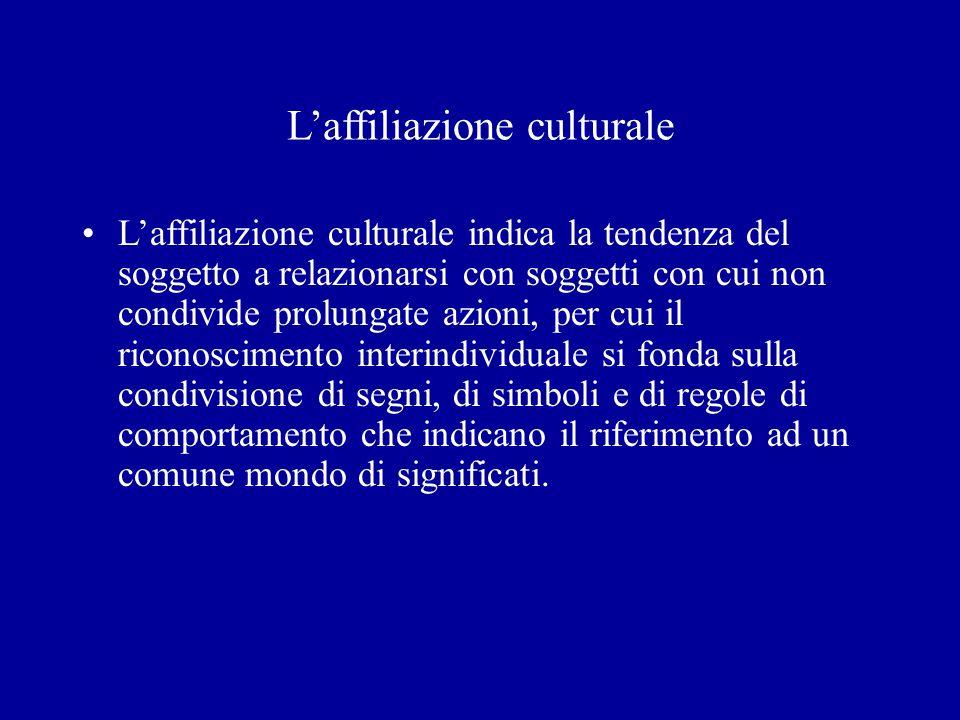 L'affiliazione culturale